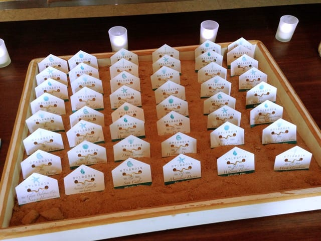 Beach Tag Escort Cards - Details and Decoration