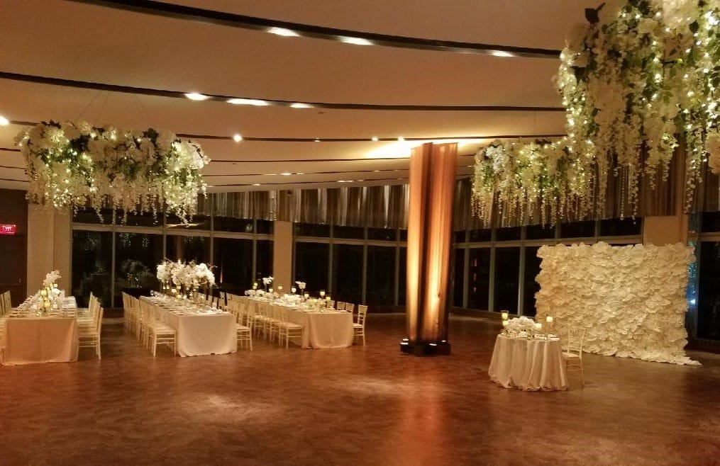 Hanging Floral Chandaliers - Details and Decoration