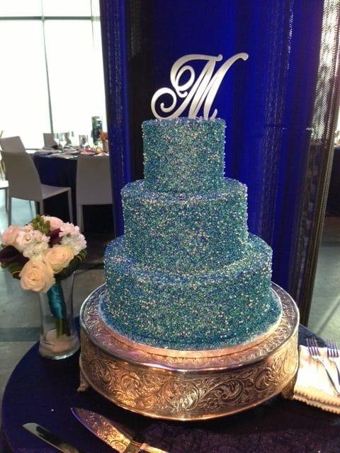 Blue Sprinkle Cake rotated - Wedding Cake
