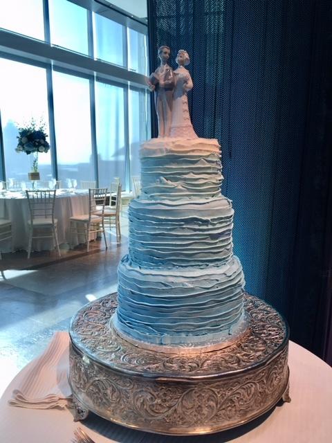 Blue Umbra cake - Wedding Cake