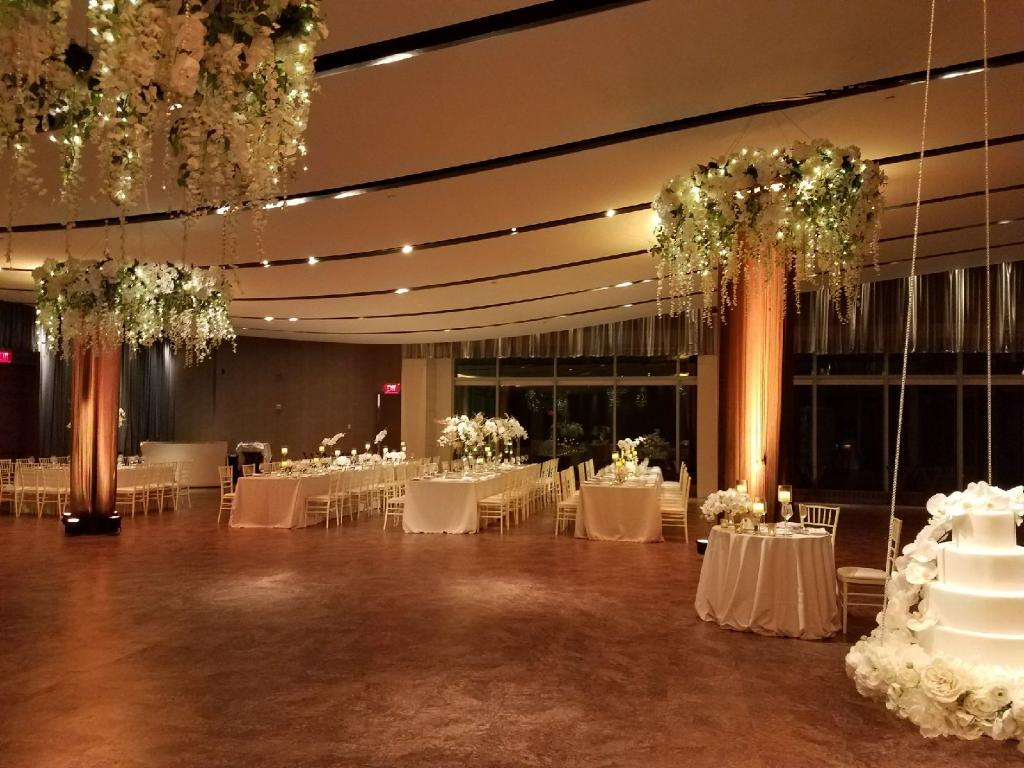 Hanging Floral Chandaliers 2 - Receptions